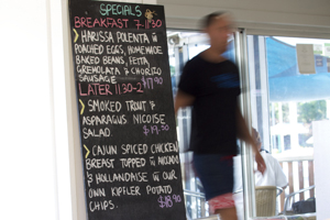 Cafe Aqua Coffs Harbour Menu